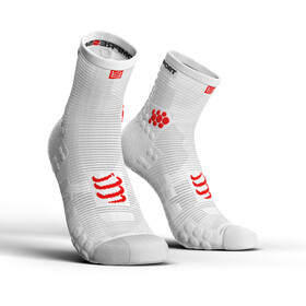 Compressport Pro Racing V3.0 Run Chaussettes Hautes, white